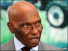 File photo of Senegalese President Abdoulaye Wade, September 2009
