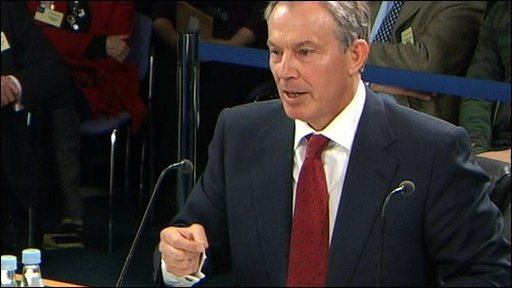 Blair at the Chilcot inquiry