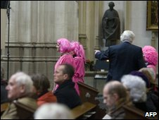 Gay activists in church protest 28 February 2010