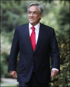 Sebastian Pinera in Santiago, March 2010