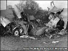 Llandow air disaster close to Sigginstone village, Vale of Glamorgan, in 1950