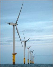 Rhyl Flats offshore windfarm, Denbighshire