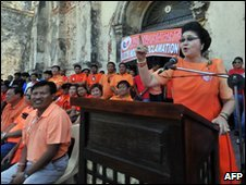 Imelda Marcos launches her campaign in Ilicos Norte on 26 March 2010