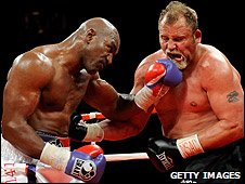 Evander Holyfield and Frans Botha