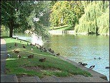 Jesus Green in Cambridge