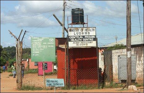 Lusaka Central Prison Health Centre [Photo by Kieron Humphrey]
