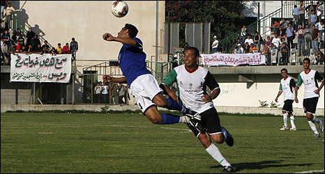 Italy v Palestine, first match in Gaza 'World Cup'