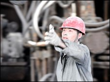 Baotou steel worker