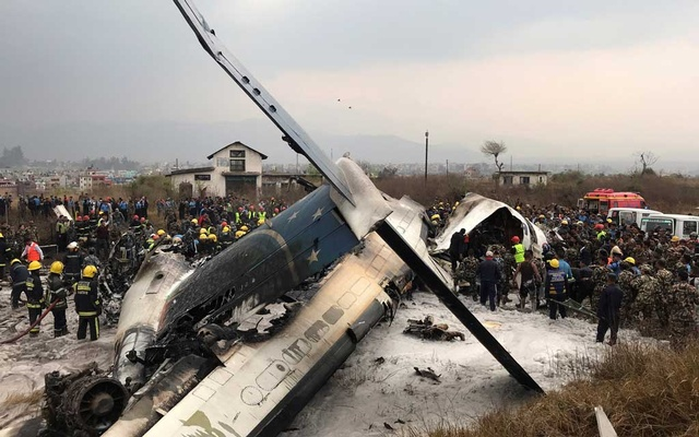 At least 50 killed in US-Bangla airline crash in Nepal