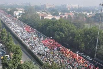 किसान मुक्ति मार्च : किसानों का संसद भवन की ओर बढ़ना जारी, सुरक्षा के भारी इंतजाम