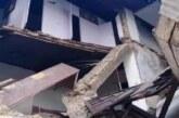 माल रोड पर होटल का एक भाग क्षतिग्रस्त होकर गिरा