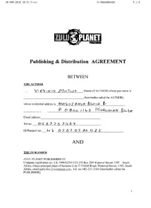 Credo Mutwa & Zulu Planet/Michael Tellinger Contract DVD copy