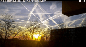 Chemtrails in ritual pentacle deployment