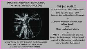 PART II - Symposium exposing off-planet predatory AI Artificial Intelligence