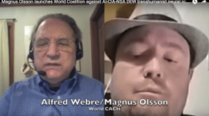 Magnus Olsson survives massive DEW attack, launches World Coalition against AI-CIA-NSA DEW transhumanist agenda, shows how 6 million+ Europeans are entrained into HAARP supercomputers, 80% of humanity have chemtrails implants