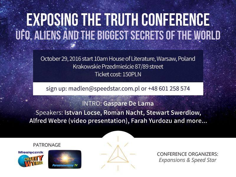 Navigating the Omniverse to Disclosure & Density Shift: Alfred Lambremont Webre keynote in Warsaw at Exposing the Truth Conference