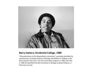 Exposes of Barack Hussein Obama/Barry Soetoro-Soebarkah by Alfred Lambremont Webre