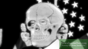 Donald Trump with Nazi Skull