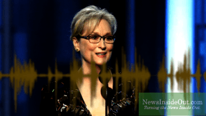 Actress Meryl Streep at the 74th Golden Globe Awards in Beverly Hills, California.