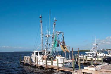One of the few remaining fishing boats in Matlacha an old fishing village in Southwest Florida. (Patricia Sheridan/Post-Gazette)