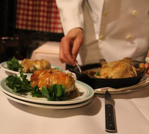 The roasted chicken at Chez L'Ami Louis. (Patricia Sheridan/Post-Gazette)
