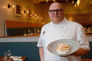 Chef owner Scott Walton at Acorn in Shadyside. (Rebecca Droke/Post-Gazette)