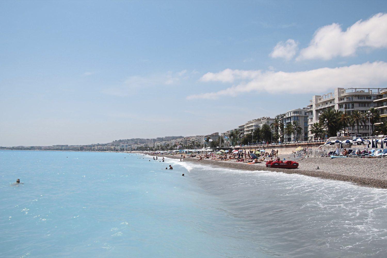 The shore line in Nice France. (Patricia Sheridan/Post-Gazette)