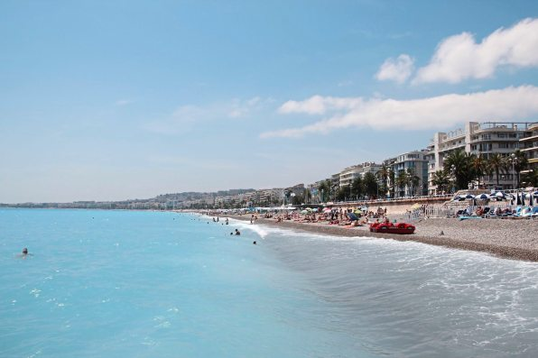The shore line in Nice France. (Patricia Sheridan/Post-Gazette)