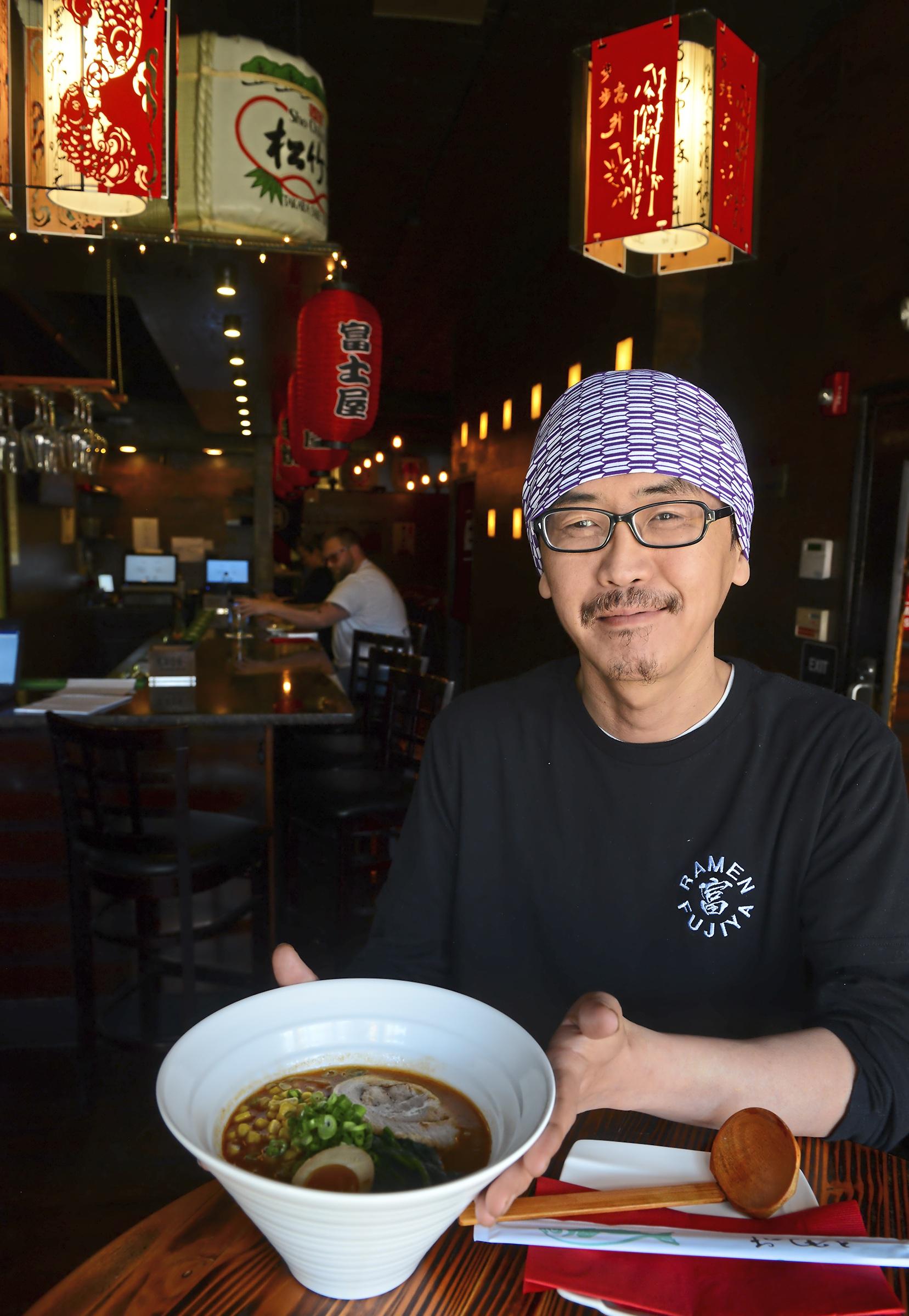 Chef Takayuki Ishida of Fujiya Ramen. (Lake Fong/Post-Gazette)