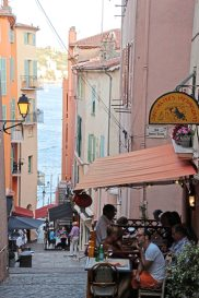 Distinction French Riviera. One of the streets in the old town of Ville Franche-Sur-Mer on the French Riviera. (Patricia Sheridan/Post-Gazette)