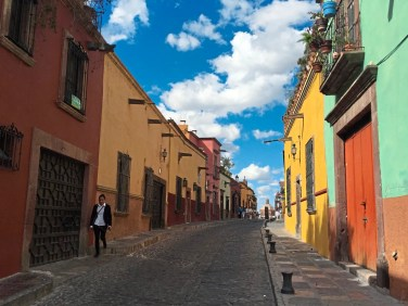 Distinction Colorful colonial buildings and cobbled streets with narrow sidewalks make up the charm of San Miguel de Allende, Mexico credit Patricia Sheridan