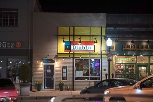 The outside of Taco Diablo in Mt. Lebanon. (Andrew Stein/Post-Gazette)