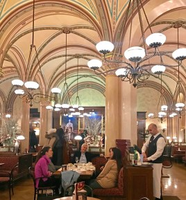 Freud, Trotsky and other thinkers and drinkers have been meeting at Vienna's Cafe Central since 1876. (Patricia Sheridan/Post-Gazette)