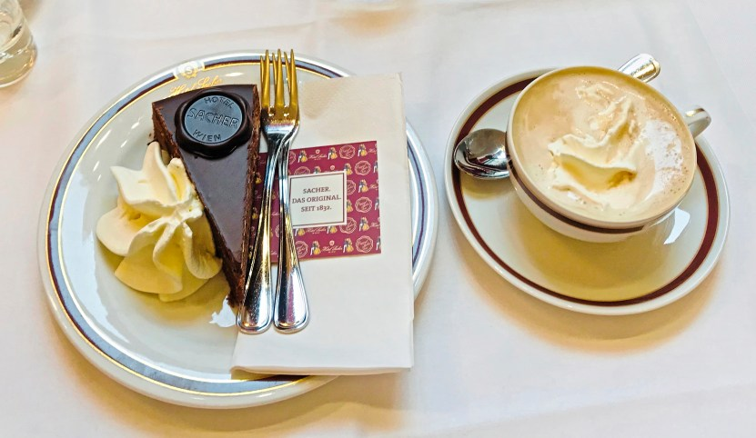 Vienna's Hotel Sacher is famous its dense chocolate Sachertorte. (Patricia Sheridan/Post-Gazette)