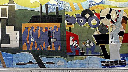 Romare Bearden mural detail