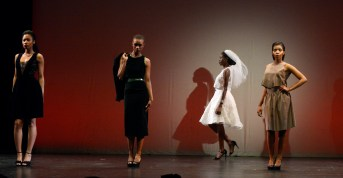 """Fashions of Diana Misetic at Pittsburgh Style Week """"Cut & Sewn"""" at the Kelly Strayhorn Theater in East Liberty."""