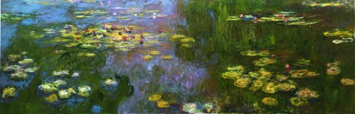 Claude Monet, French, 1840-1926, Waterlilies, 1922, Oil on canvas, 77 15/16 x 234 7/8 in., Permanent Collection, Carnegie Museum of Art