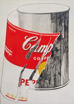 """Andy Warhol, """"Big Torn Campbell's Soup Can (Pepper Pot),"""" 1962, The Andy Warhol Museum, Pittsburgh, © The Andy Warhol Foundation"""