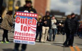 Andrew McCutchen gets a vote for president. (Steve Mellon/Post-Gazette)