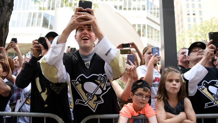 There must be thousands of cell phone pictures of the event. (Steve Mellon/Post-Gazette)