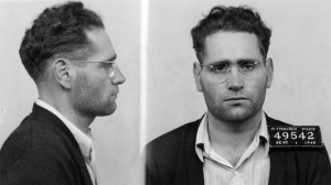 A police mug shot of Wright from 1945.