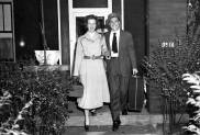 Gene Kelly and wife Betsy Blair at the Wilkinsburg home of the Kelly parents. ( Photo by Bill Herman, Sun-Telegraph)