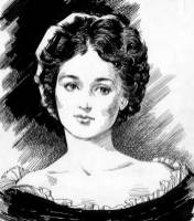 A newspaper sketch of young Mary Schenley.
