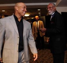 November, 2010 -- Hines Ward and L.C. Greenwood