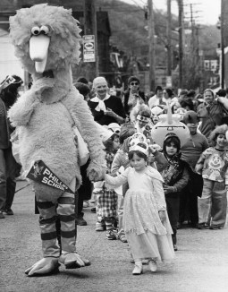 Halloween Parade, 1985, photo by Henry Coughanour, Post-Gazette