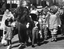 Halloween parade, 1986, photo by Bill Levis, Post-Gazette