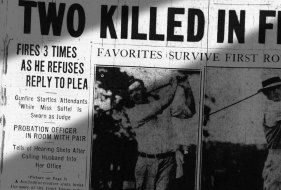 Newspaper coverage of the shooting that occurred on the day Judge Soffel was sworn in.