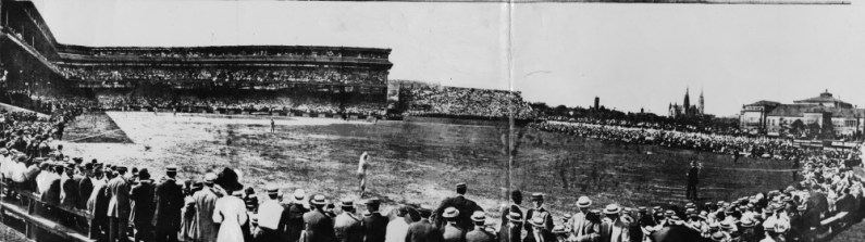 July 3, 1909: The first game at Forbes Field, which the Chicago Cubs won, 3-2. (Photo credit: The Index)