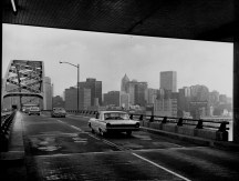 Dec. 10, 1961: The original view one saw emerging from the tunnel into the city. (Pittsburgh Press photo)
