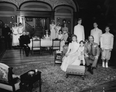 """1984: A trademark of Pittsburgh Public Theater is giving classic works their due on the design afront, such as this production of """"Life With Father."""" (Photo credit: Ric Evans)"""